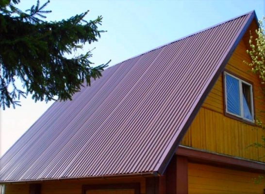 Пример крыши из профлиста